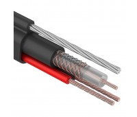КВК-П + 2*0.75мм² + ТРОС (7*0,4мм), кабель для видеонаблюдения