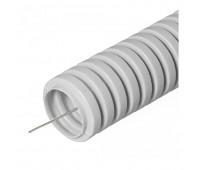 Ecoplast 10125-50, труба ПВХ гофрированная легкая с зондом 25 мм