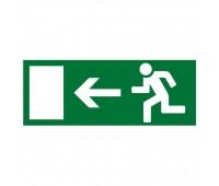 """""""Направление к эвакуационному выходу налево"""", наклейка"""