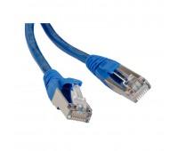 Hyperline PC-LPM-STP-RJ45-RJ45-C5e-0.5M-LSZH-BL, патч-корд
