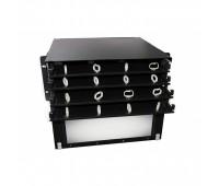 Hyperline FO-19BX-4U-D1-12хSLT-W120H32-EMP, патч-панель