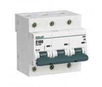 13009DEK, автоматический выключатель ВА201-3P-100A-C