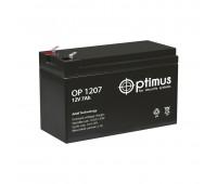 Optimus OP 1207, аккумуляторная батарея